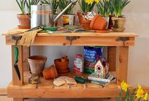 Potting Benches & Outdoor Furniture / by Karen Sweitzer