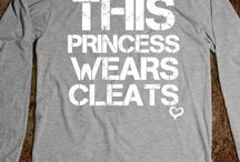 This princess wears cleats !!!