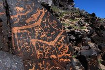 rock carving and paintings