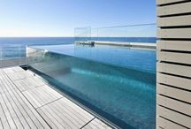 glass pool walls / collection of glass, resin, fiberglass and see through pool walls