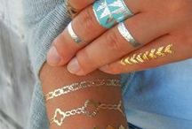 Metallic Tattoos / Take a look at just how effective these metallic tattoos are. Worn layered alongside your own 'real life' jewellery creates a real visual impact.