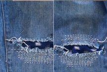 calças arranjar rasgões