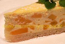 Koláče s ovocem (meruňky, rybíz....), tvarohové