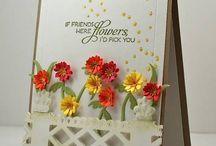 Flower die cuts card ideas