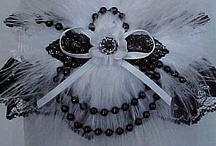Black & White Garter for Wedding Bridal Prom Fashion / Everything is Black and White at Custom Accessories Garters LLC. Garters from sassy to sophisticated, we offer it all. You can personalize your garter with your names & event or select from over 70 charms. Black & White Wedding Garter - Black & White Bridal Garter - Black & White Prom Garter - Black & White Fashion Garter / by garters.com