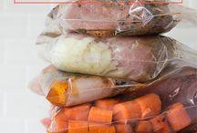 Food : weekly prep, freeze, or bulk