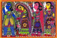 Madhubani Art Oil Paintings