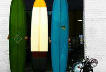 Surfboard resin work