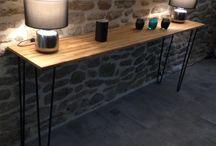 Consoles / Ripaton est un atelier Français de fabrication de pieds en épingle et de mobilier.  Tous nos produits sont fabriqués en France et à la main. Créez vos meubles en DIY avec nos pieds d'épingles robustes et design.