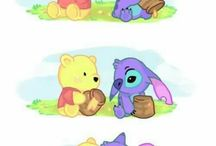 pooh baby stich baby