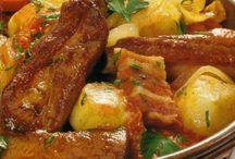 pratos de carnes