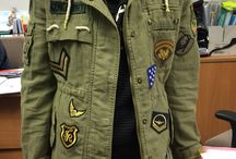 military patches jacket