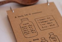 Hand lettered recipes