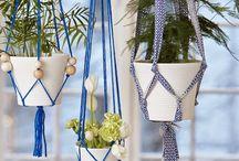 redinha para vasos de plantas