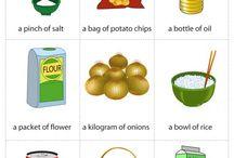 English: Voca Food Quantities