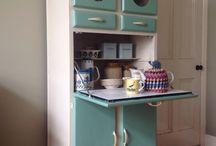 Vintage kitchen cupboards