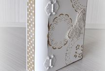 boxes / wooden boxes with beautiful decoupages and hand painted lace patterns