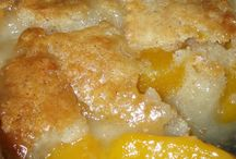 Peach cobbler / Peach Cobbler / by Connie Burgdorf