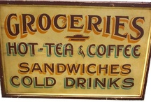 old grocery signs