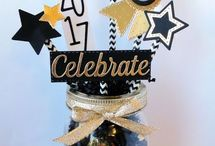 Party~ Graduation Party Ideas / High School, For Girls, College, Western, For Boys, Decoration, DIY, Food, Outside, Seniors, 8th Grade, Rustic, On a Budget, Backyard