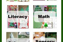 christmas and tree theme preschool / by Jennifer Meizen