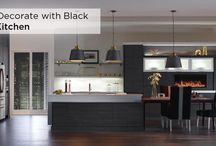 Black is the New Black / Black is an ideal backdrop for white painted moldings, artwork and furniture in your home. On cabinetry, this color can convey sophistication or passion depending on the space is furnished.  / by MasterBrand Cabinets