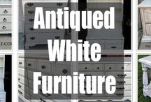 Antiqued White Refinished Furniture / Furniture painted Antiqued White, with glaze and distressing adding to the great upstyled look of this color on vintage furniture. Featuring all our favorites from Facelift Furniture, with hopes to inspire your next DIY project!