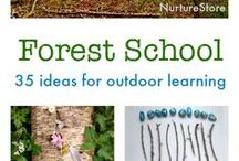 Children's nature craft activities / children's craft ideas using things found in nature, inspired by Forest School, Montessori and Waldorf / Steiner eduction
