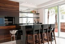 Cozinha, área externa e varanda