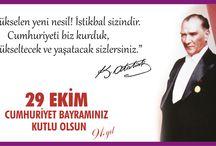 29 Ekim Cumhuriyet Bayramı | 2014 - 2015 Eğitim Öğretim Yılı / Ulu Önder Atatürk'ü ve silah arkadaşlarını saygıyla anıyor,  29 Ekim Cumhuriyet Bayramımızı kutluyoruz!