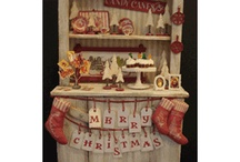 """Our Altered Christmas Cabinet / This collection is in 1"""" scale"""