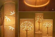 Papier lampen