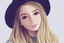 Drawings of girls (I usr them for Wattpad Stories I create)