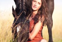 Modeling w/Animal / Any portrait that has a person and an animal, of any sort, cat, dog, horse, cow, bird etc.