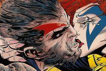 Comic art 36=Wolverine Logan and Phoenix (Jean Grey)-Ruby Thursday-Sabertooth / Lady Deathstrike(Yuriko Oyama)-Mr.Sinister-
