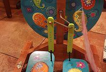 spinning wheel decor