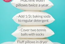 Washing pillows twice a year / Pillow washing