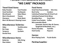 Care package for soldiers