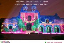"""HOHO """"TOUR DELHI BY EVENING"""" / Get mesmerised by the splendind Ambience, beauty and Culture of Delhi which takes a New Dimension in the Evening"""