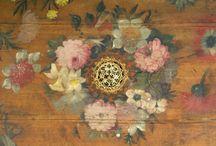Painted harpsichord