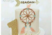 boho/dreamcatcher cake