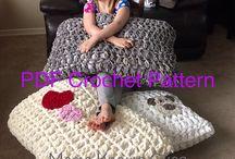 Crochet pillows and cushions