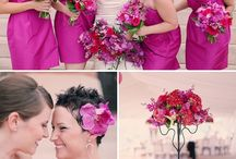 Fuchsia and Gray Wedding / by Wiregrass Weddings