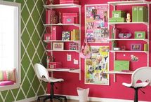 office/art studio / by Debbi Saunders