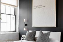 Bedroom Ideas / Simplistic - greys whites blacks creams