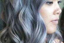 grey/silver hair