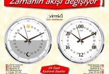24 saat / 24 saat kadranlı özel tasarım duvar saatleri