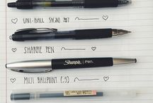 Pens and stationery