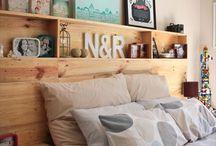 Mes inspirations - Tete de lit / Headboard / style ristique / recyclage pallette entre autres.