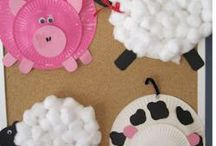 bricolages sur la ferme / activités manuelles pour des enfants de maternelle sur le thème de la ferme